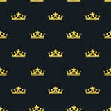 Seamless pattern Laksheri style. crown. Vector Royalty Free Stock Image