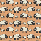 Seamless pattern, lamb theme Royalty Free Stock Photos