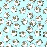 Seamless pattern with lambs Royalty Free Stock Photo
