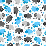 Seamless pattern with lambs Royalty Free Stock Image