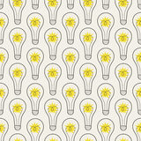Seamless pattern with lamps Royalty Free Stock Images