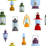Seamless pattern with lanterns Royalty Free Stock Images