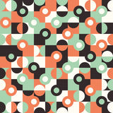 Seamless pattern with large circles and semicircles. Stock Image