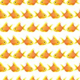 Seamless pattern with large goldfish. vector Stock Image