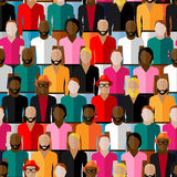 Seamless pattern with a large group of guys and men. Royalty Free Stock Image