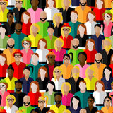 Seamless pattern with a large group of men and women. Royalty Free Stock Photo