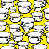 Seamless pattern large and small pots Royalty Free Stock Photos