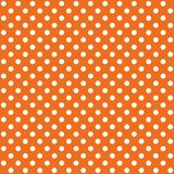 A seamless pattern is a large white dot on a orange background. EPS Vector file. Suitable for filling any form vector illustration
