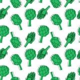 Seamless pattern with lartichoke. vector illustration