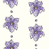 Seamless pattern with lavender flowers Stock Image