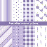 Seamless pattern with lavender Stock Photography