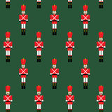 Seamless pattern with lead toy soldiers Stock Images