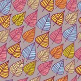 A seamless pattern with leaf. Stock Photography