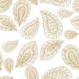 Seamless pattern with leaf Stock Photography