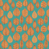Seamless pattern with leaf, abstract leaf texture, endless backg Stock Photo