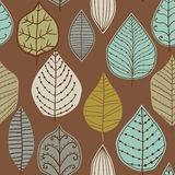 Seamless pattern with leaf, abstract leaf texture, endless backg Stock Images
