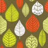 Seamless pattern with leaf, abstract leaf texture, endless backg Stock Image