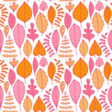 Seamless pattern with leaf, abstract leaf texture, endless backg Stock Photos