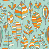 Seamless pattern with leaf, abstract leaf texture, endless backg Royalty Free Stock Image