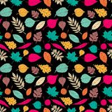 Seamless pattern with leaf, abstract leaf texture Stock Images