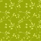 Seamless pattern with leaf, abstract leaf texture, endless background. royalty free illustration