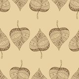 A seamless pattern with leaf,autumn leaf Stock Image