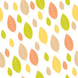 Seamless pattern with leaf, autumn leaf background Royalty Free Stock Image