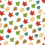 Seamless Pattern with Leaf Background. Vector Stock Photo