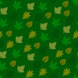 Seamless Pattern with Leaf Background. Vector Royalty Free Stock Photography