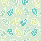 Seamless pattern of leaf cartoon background Stock Photos