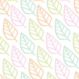 Seamless pattern of leaf cartoon background Stock Image