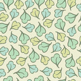 Seamless pattern of leaf cartoon background Stock Photo
