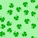 Seamless pattern of leaf clover. St.Patrick s Day. Vector illustration Stock Photo
