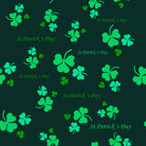 Seamless pattern of leaf clover. St.Patrick s Day. Vector illustration Royalty Free Stock Photos