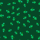 Seamless pattern of leaf clover. St.Patrick s Day. Vector illustration Stock Image