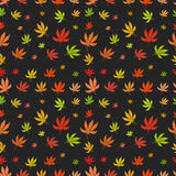 Seamless pattern of leaf marijuana different Stock Photos