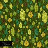 A seamless pattern with leaf Royalty Free Stock Photo