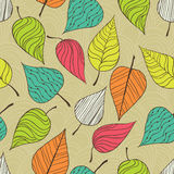 Seamless pattern with leaf. Royalty Free Stock Photography