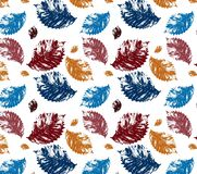 Seamless pattern leaf Royalty Free Stock Image