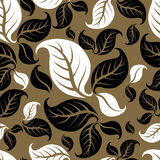 Seamless pattern with leafs. Seamless vintage beige pattern with leafs Stock Photography