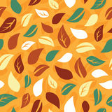 Seamless pattern with leafs Stock Images