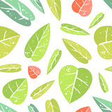 Seamless pattern with leafs Royalty Free Stock Image