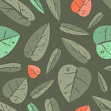Seamless pattern with leafs Royalty Free Stock Photo