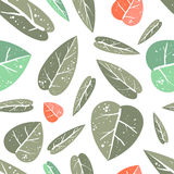 Seamless pattern with leafs Stock Image