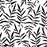 Seamless pattern with leafs tropical fern palm for fashion textile or web background  Royalty Free Stock Photos
