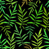 Seamless pattern with leafs tropical fern palm for fashion textile or web background  Stock Image