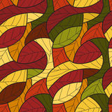 Seamless pattern with leafs. Vector illustration Stock Photos