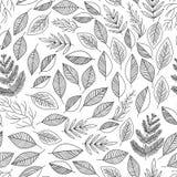 Seamless pattern leafs vector vector illustration
