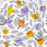 Seamless pattern leafs vector stock illustration