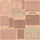 Seamless pattern with leather goods Royalty Free Stock Photo